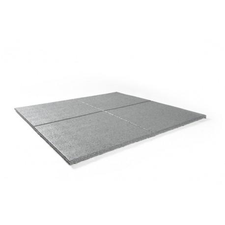 Rubber tegel 100x100x2,5 cm zwart