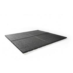 Rubber tegel 50x50x2,5 cm zwart